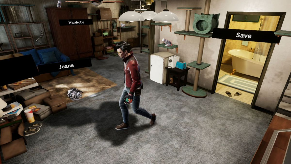 Travis in his apartment in No More Heroes 3