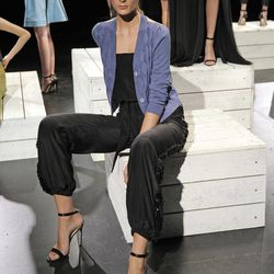 In this photo provided by Holmes & Yang,  the Holmes & Yang Spring 2013 collection is modeled during Fashion Week in New York, Tuesday, Sept. 11, 2012.