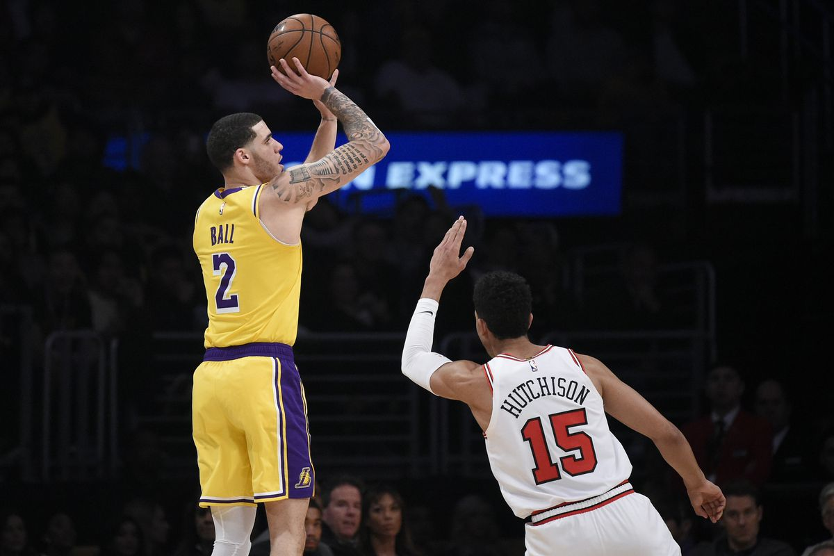 7e9aa315dfd Lonzo Ball progressing in recovery  still not working with team but has  started shooting