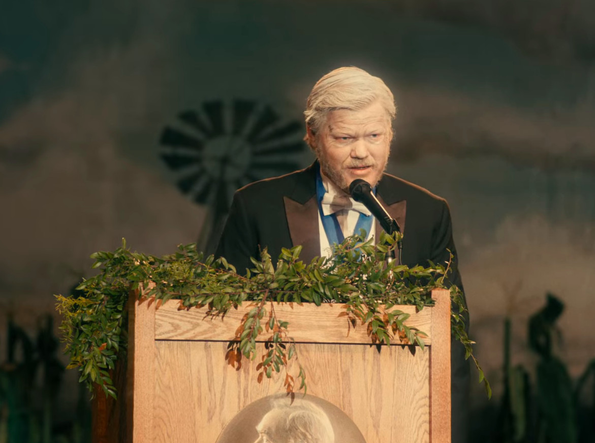Jesse Plemons as Jake in I'm Thinking of Ending Things' A Beautiful Mind scene