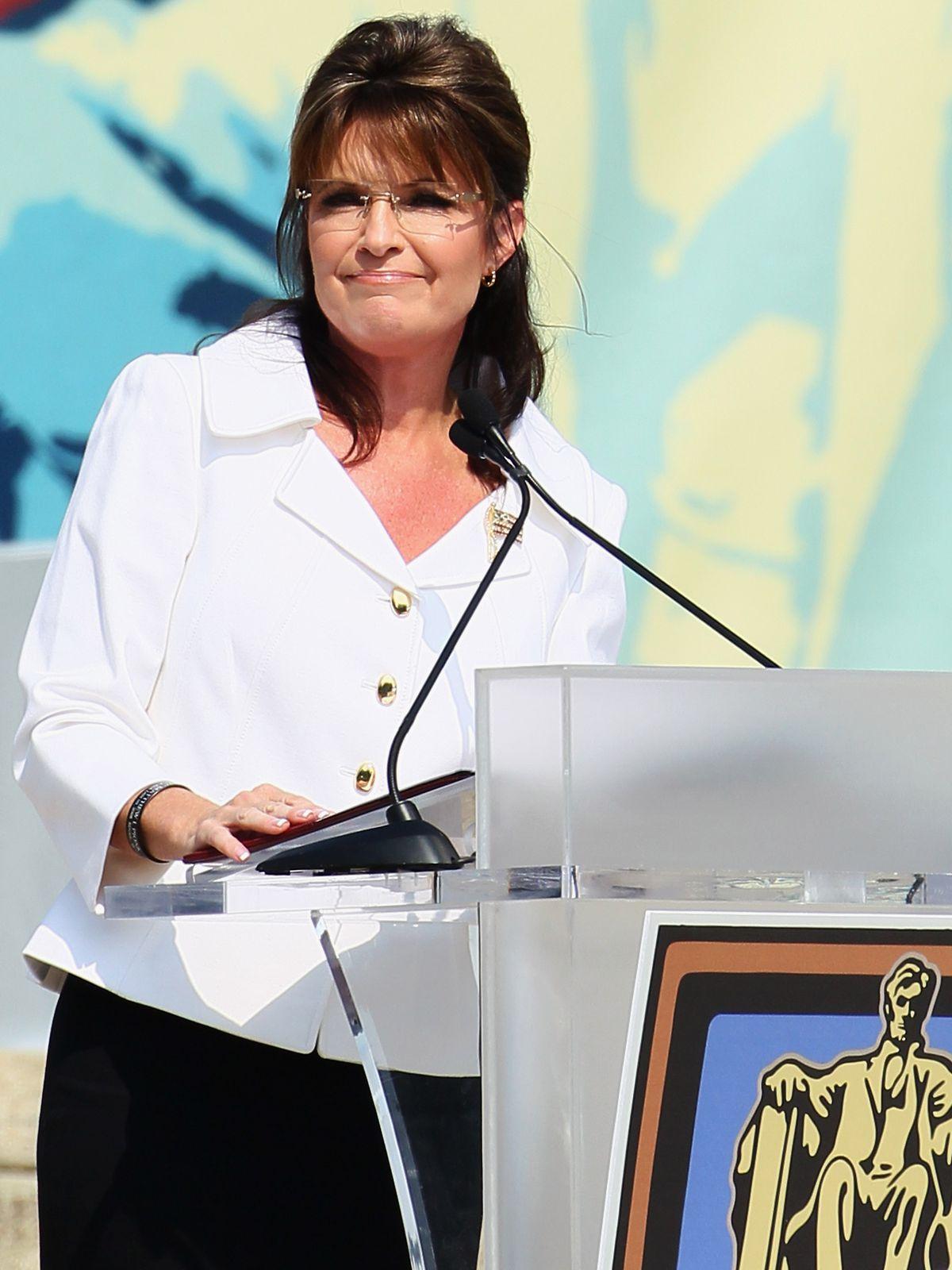 Sarah Palin, at the 'Restoring Honor' Rally At Lincoln Memorial, sponsored by Glenn Beck