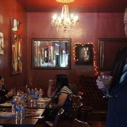 Sommelier Steven Kreuger at Bar TBA Wine Cocktails Seminar.