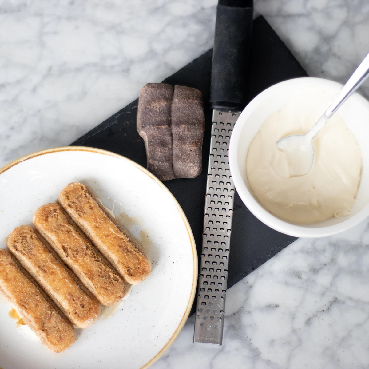The components for The Connection's tableside tiramisu