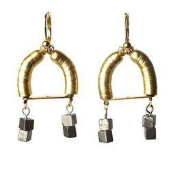 <b>Cursive Design</b> Solar Flare earrings, $126 (were $158)
