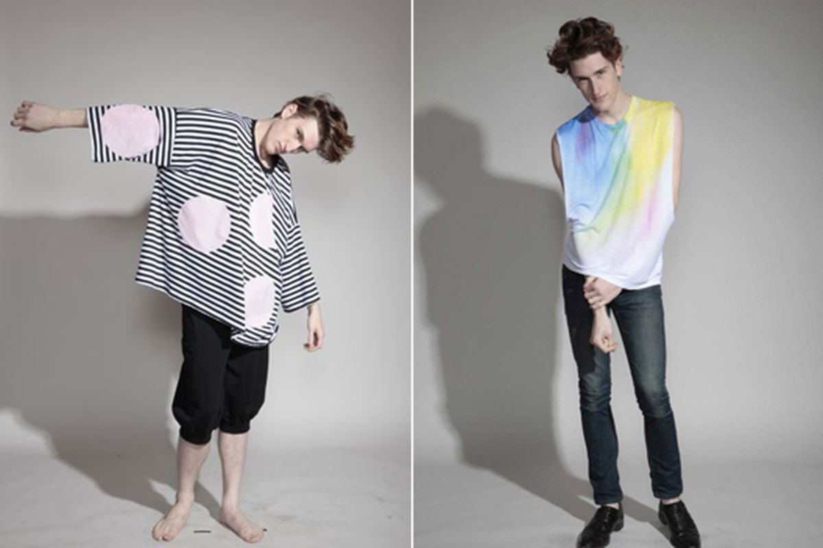 Photos of Daniel Palillo and Skyward's spring collections via Welcome Hunters