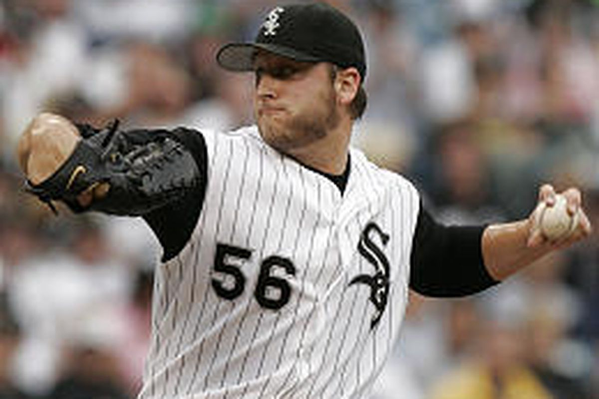 White Sox starting pitcher Mark Buehrle delivers a pitch during his four-hit victory over Minnesota.
