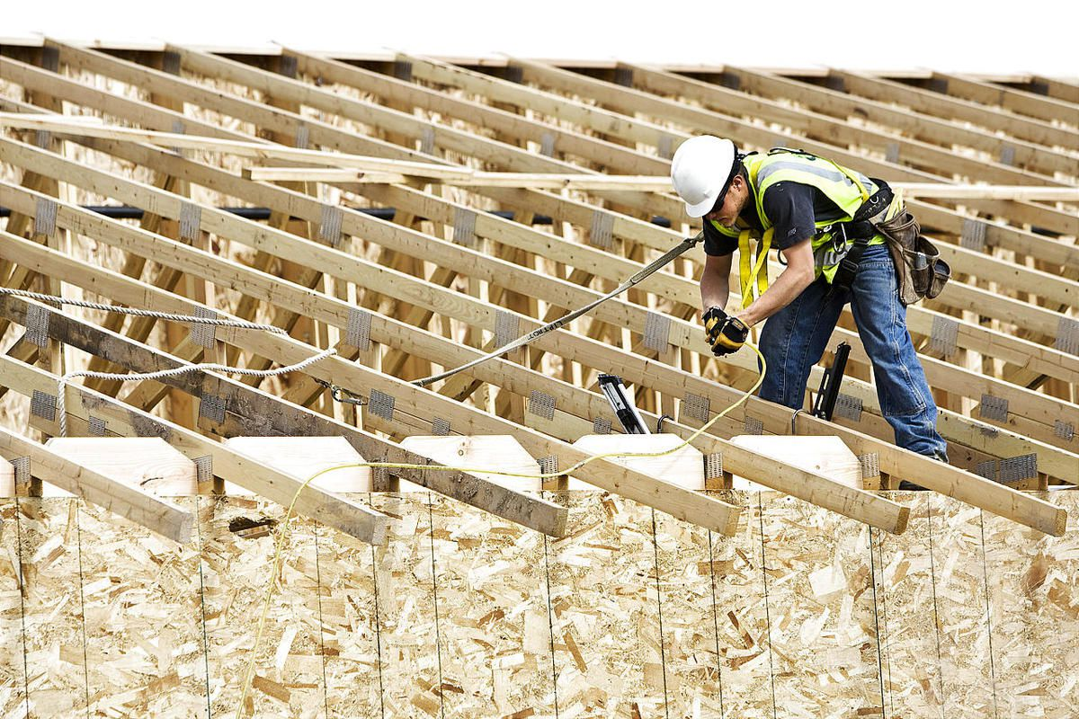 Steffen Fulmer of Roy nails the roof joints for the Northern Utah Veterans Nursing Home in Ogden in 2009. In 2000, 67.5 percent of adults were working or seeking work. In 2011, that rate had fallen to 64 percent, studies show.