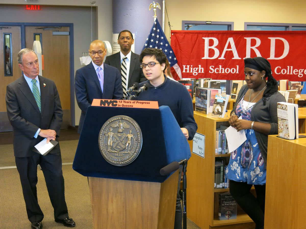 Bard Queens student Omar Ferreira said he benefitted from the personal attention of a small school.
