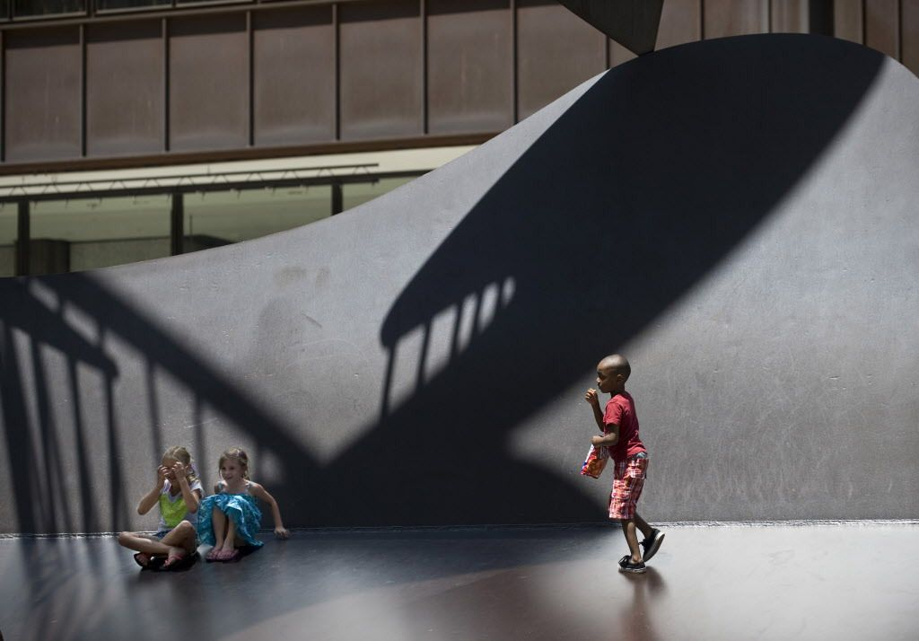 Children play on the Picasso at lunchtime one day in 2014. | Sun-Times eils