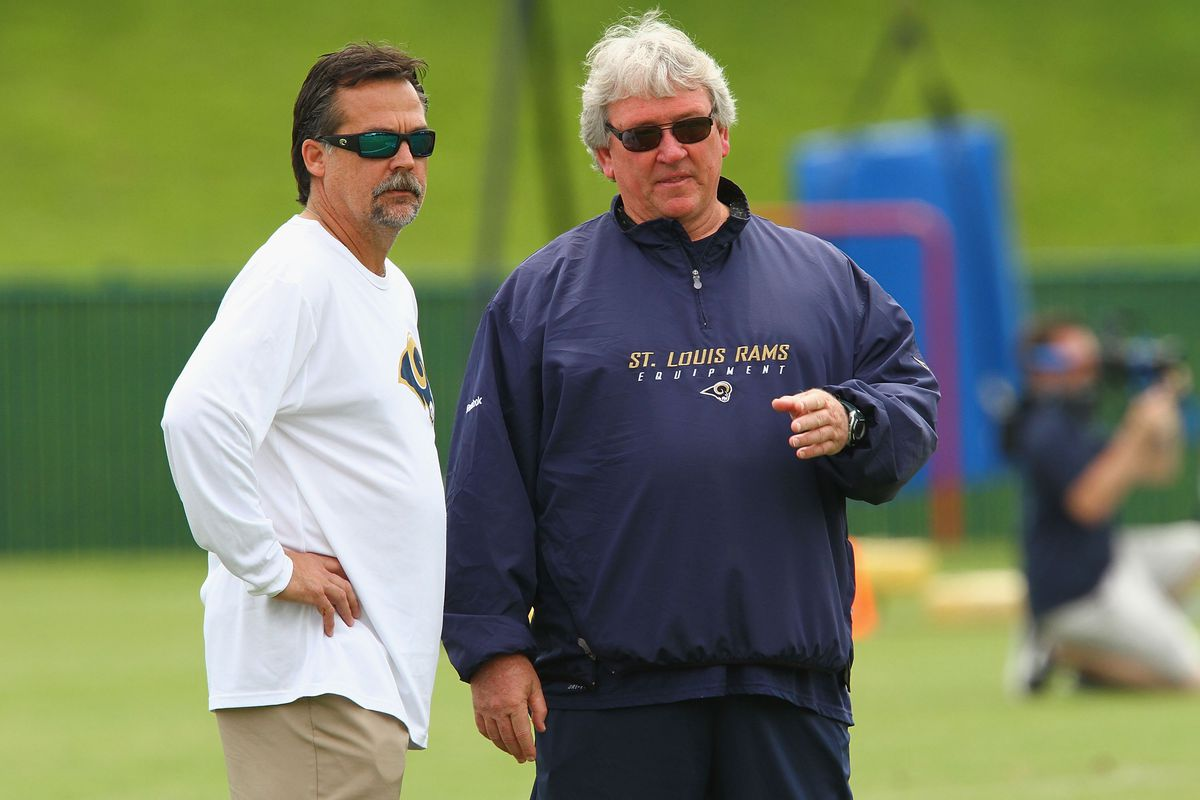 Los Angeles Rams HC Jeff Fisher and AHC Dave McGinnis