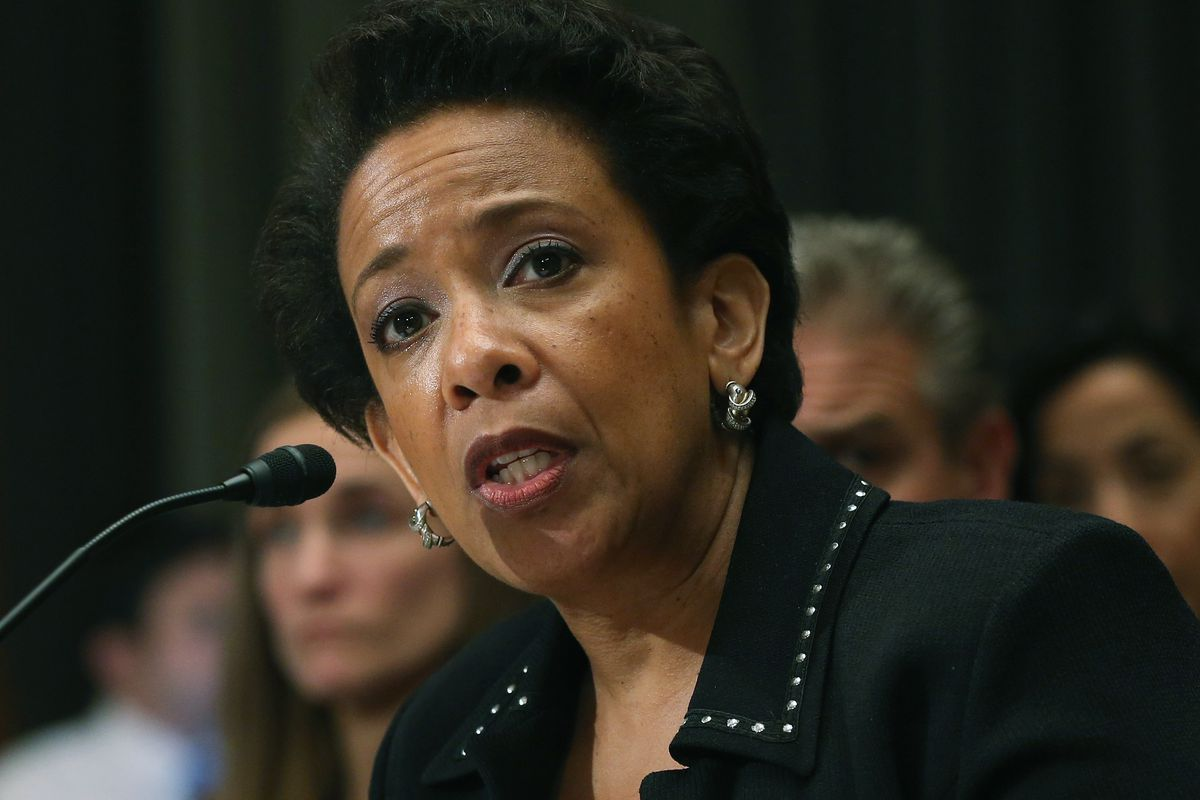 US Attorney General Loretta Lynch heads the Department of Justice.