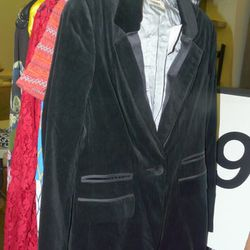 L'Agence velvet blazer, $339