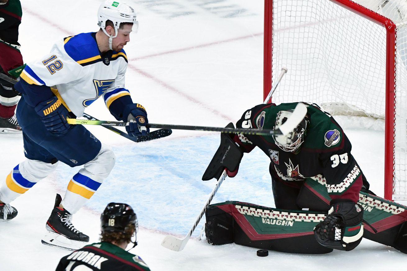 NHL: St. Louis Blues at Arizona Coyotes