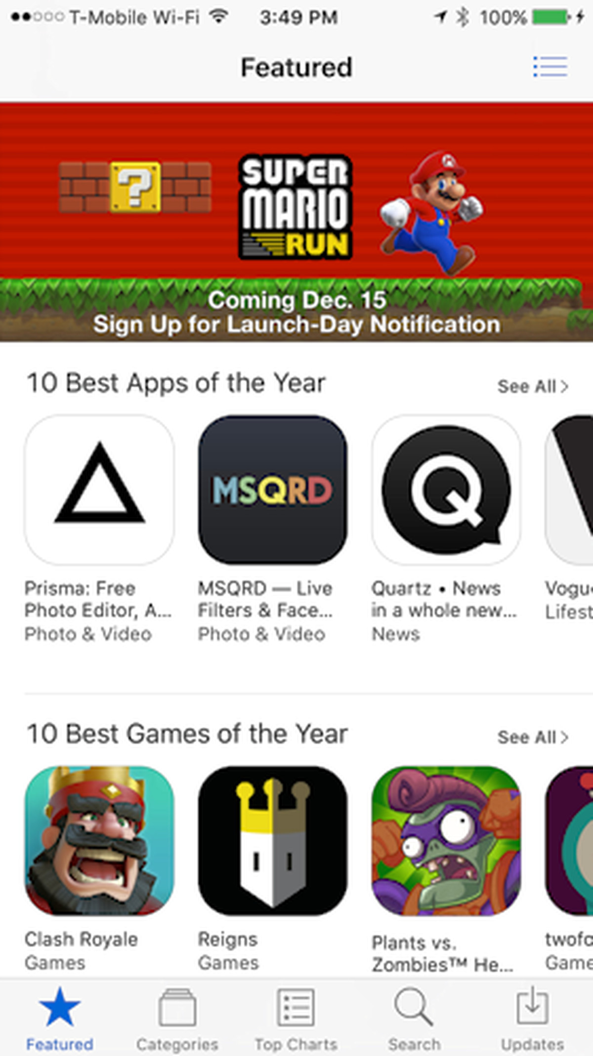 Apple is promoting the heck out of its Super Mario Run exclusive, which launches tomorrow
