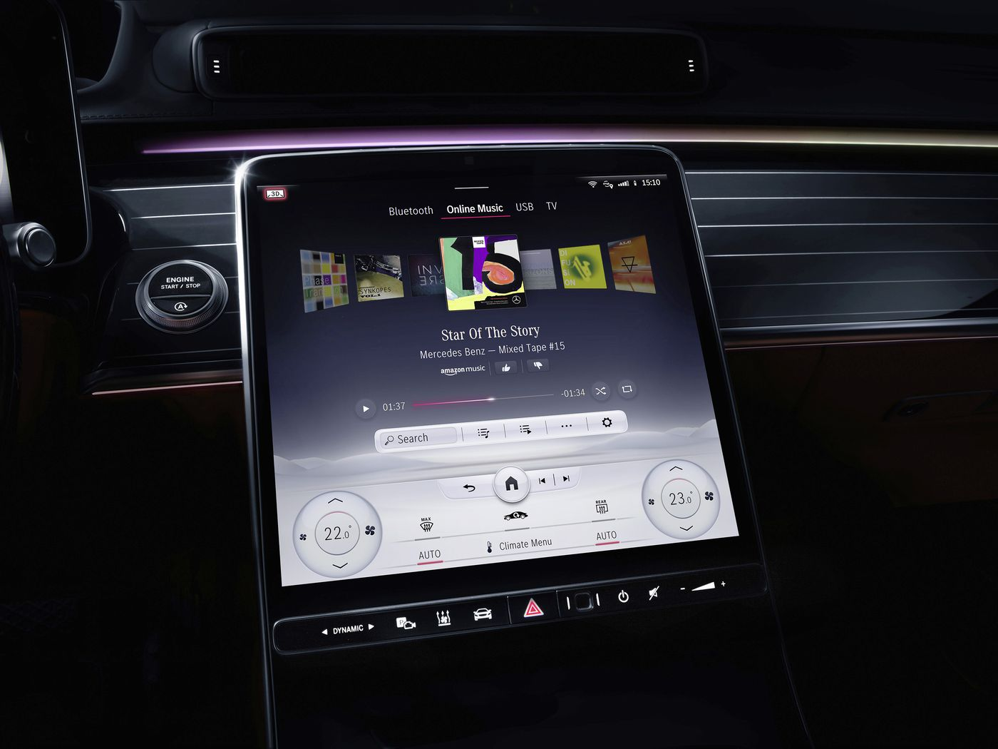 Mercedes Benz Embraces The Touchscreen In The New Version Of Mbux The Verge
