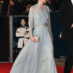 For an October 26th, 2015 premiere in London, Kate wears a Jenny Packham gown and diamond accessories.
