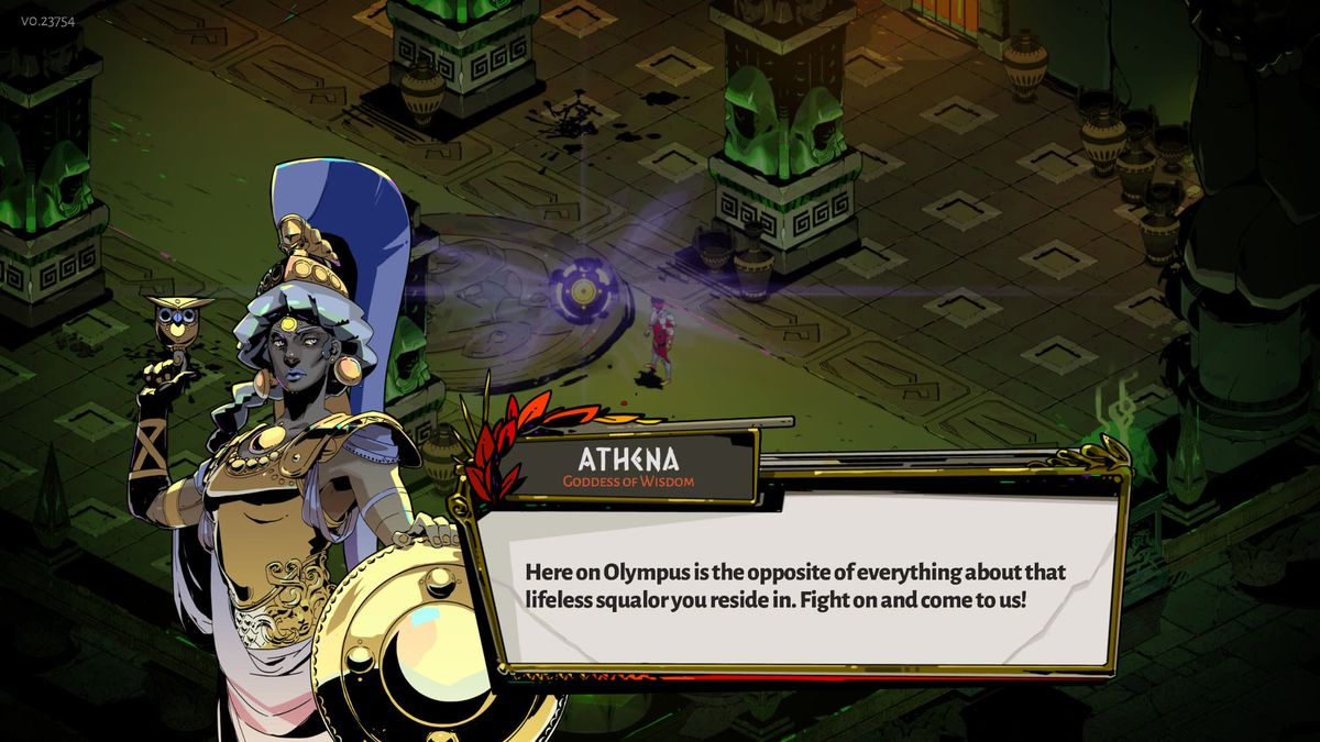 Athena offers Zagreus a Boon in Hades