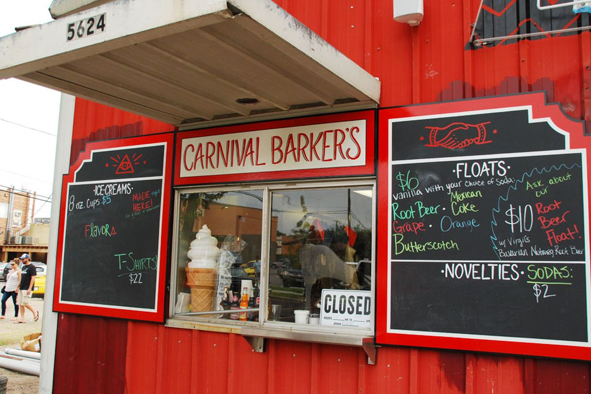 Carnival Barker's at Truck Yard.