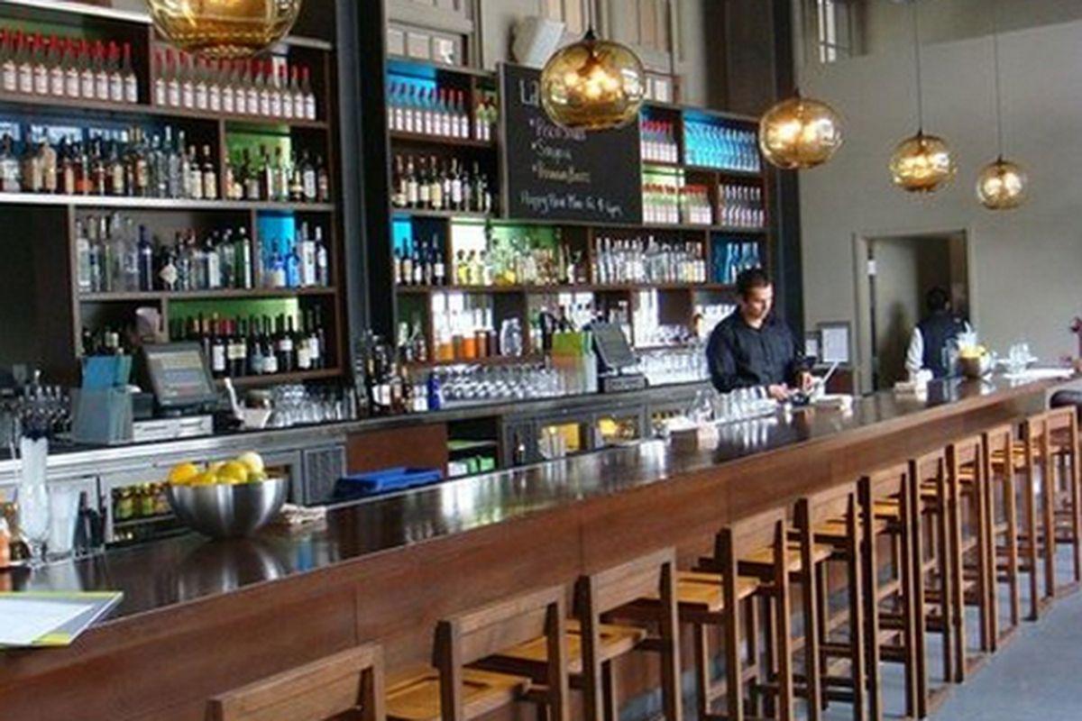 The bar at La Mar.