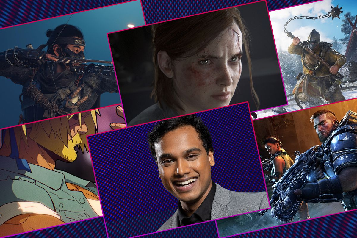 Graphic grid featuring Speedrun host Jimmy Mondal and various images from video games
