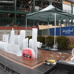 A better day Sunday for ice sculptures