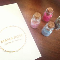 I am absolutely obsessed with the fairy dust from <b>Maha Rose</b> healing center in <b>Greenpoint</b>. I can't leave my home without a dash of dust to make my day sparkly and fun. Their shop has many beautiful handmade offerings.
