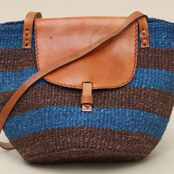 """<b>Sisal</b> Tote Stripe Flap, <a href=""""http://www.achengshop.com/products/tote-stripe-flap"""">$85</a> at A Cheng"""