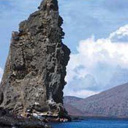 Pinnacle Rock, above, is a landmark on Bartolome.