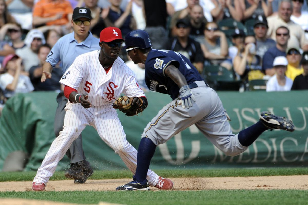 Nyjer Morgan was so excited to play the Reds tonight that he ran straight into a guy wearing red yesterday.