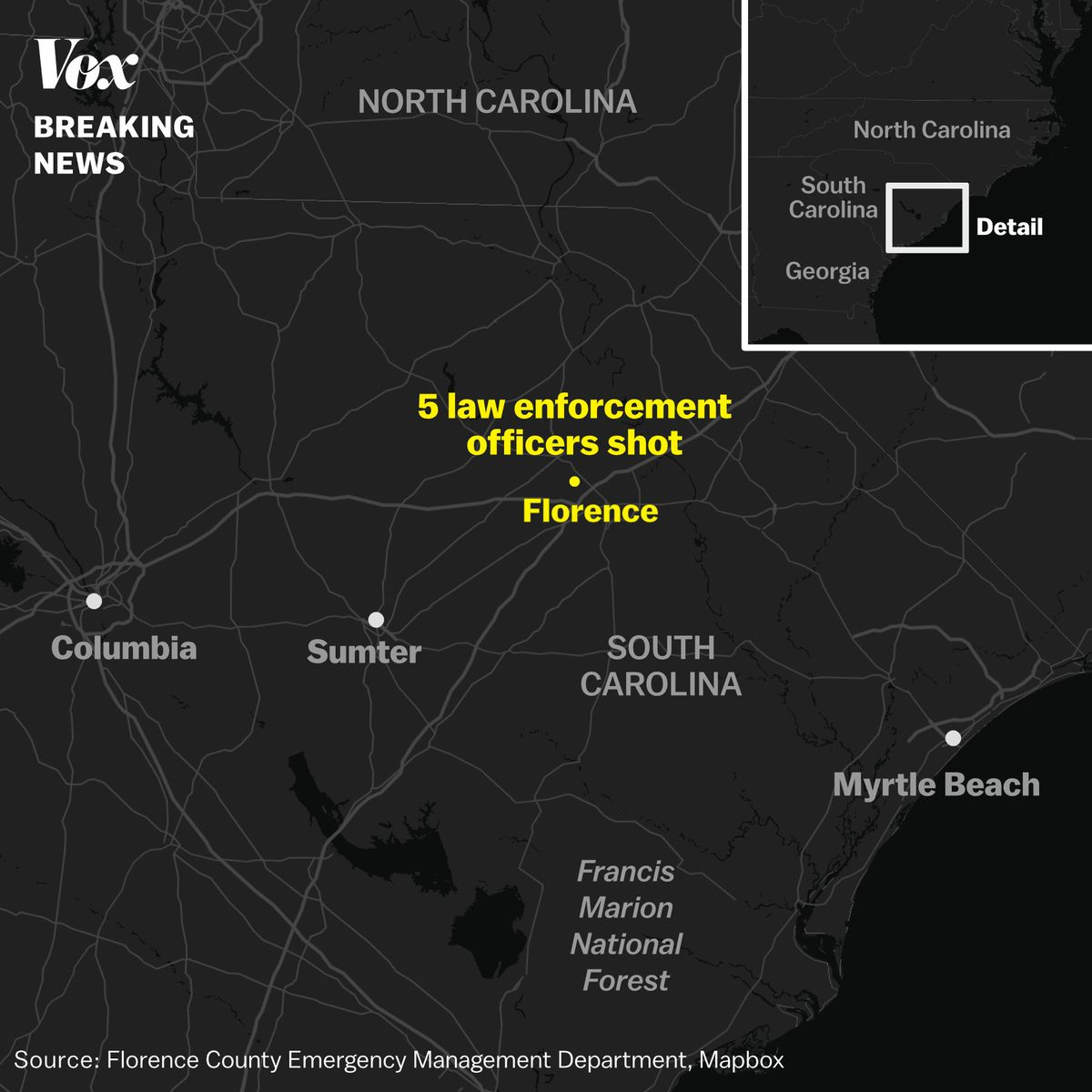 Florence County, South Carolina, shooting: 7 police officers