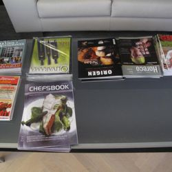 This is the reading selection in the VIP Lounge.
