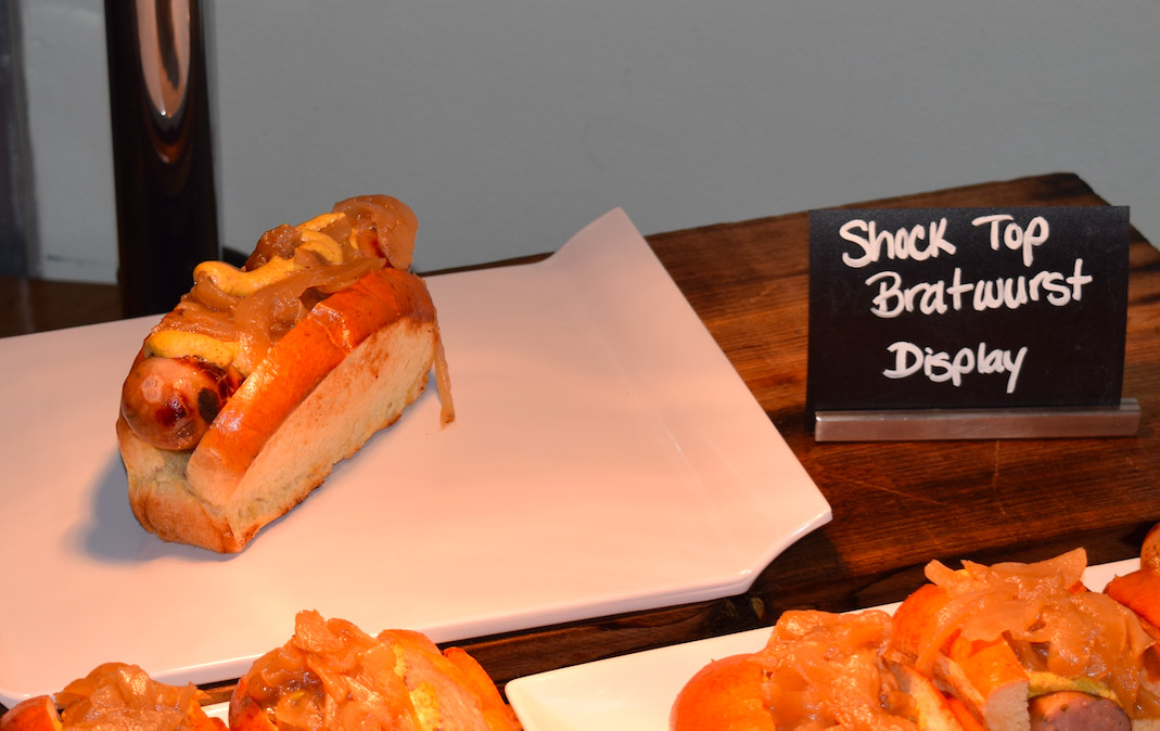 Shock Top Bratwurst located at Think Blue BBQ: 251 (Grill Area Only)