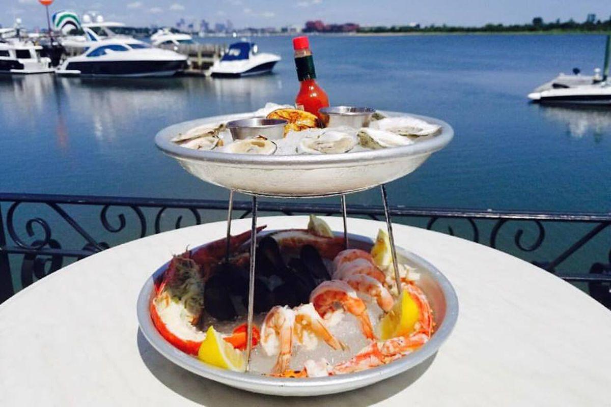 Seafood towers and water views at Venezia