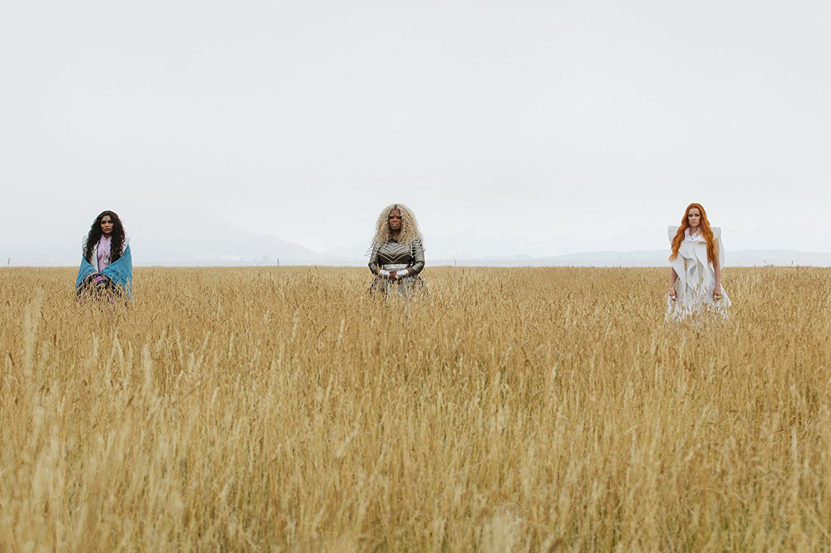 Mindy Kaling, Oprah Winfrey, and Reese Witherspoon in A Wrinkle in Time