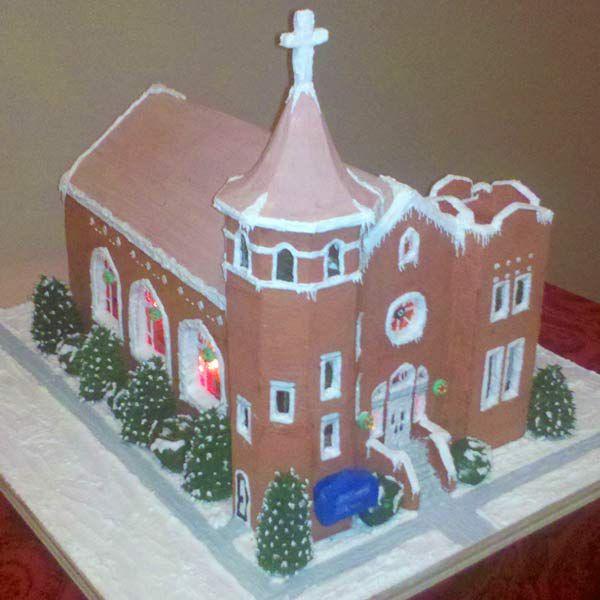Gingerbread church.
