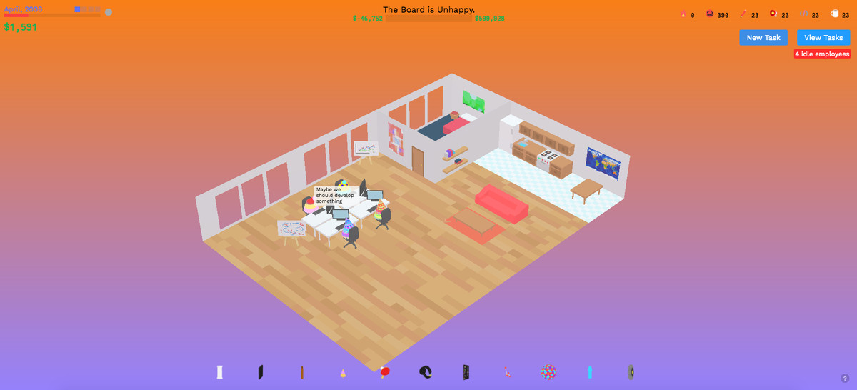 The Founder is a surreal startup simulator that strikes at