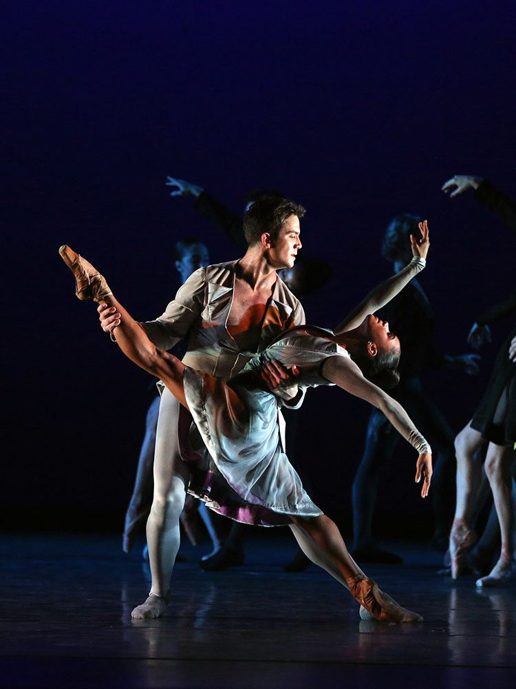 """Misty Copeland and Gray Davis in """"Thirteen Diversions.""""   Marty Sohl Photo"""