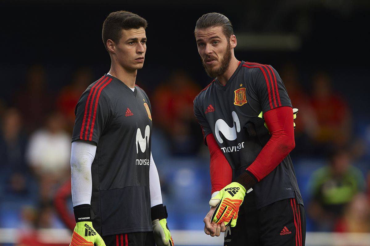 Image result for kepa arrizabalaga david de gea