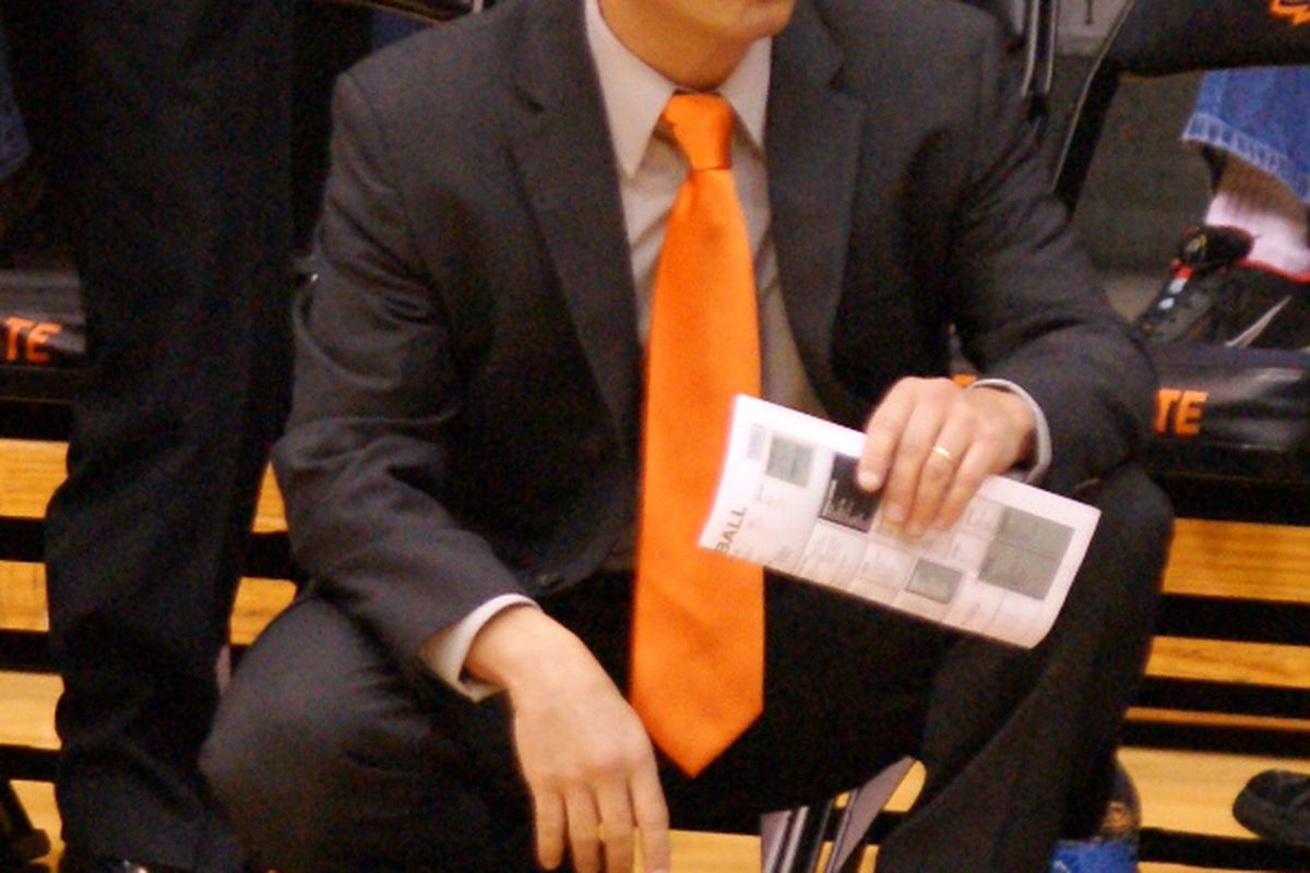 Oregon St.'s Scott Rueck is the 2012 Pac-12 Women's Basketball Coach of the Year as selected by the media. <em>(Photo by Andy Wooldridge)</em>