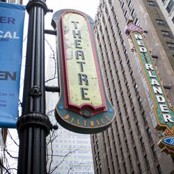 The marquee on theNederlander Theatre goes up February 5, 2019.| James Foster/For the Sun-Times