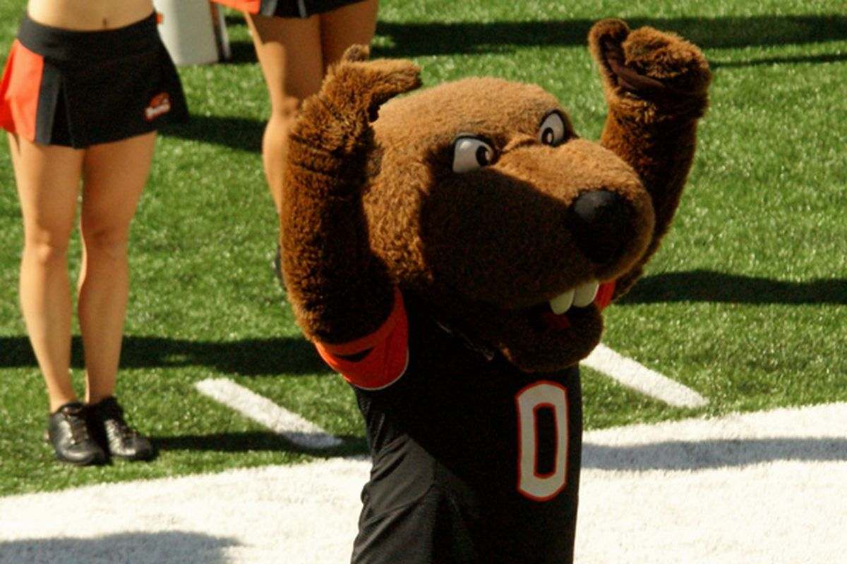 Oregon St. will play 8 games in the Northwest this year, including 2 on Fridays in November. Benny can't wait!