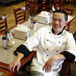 Hai Fitzgerald is the chef at Thyme and Seasons Restaurant in Bountiful on Monday, April 9, 2012.