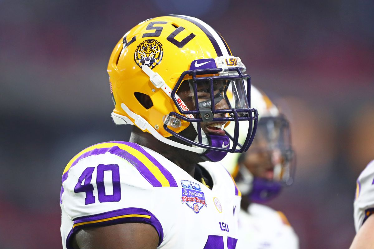 the best attitude 80ba1 c534c Bengals will meet with LSU LB Devin White - Cincy Jungle