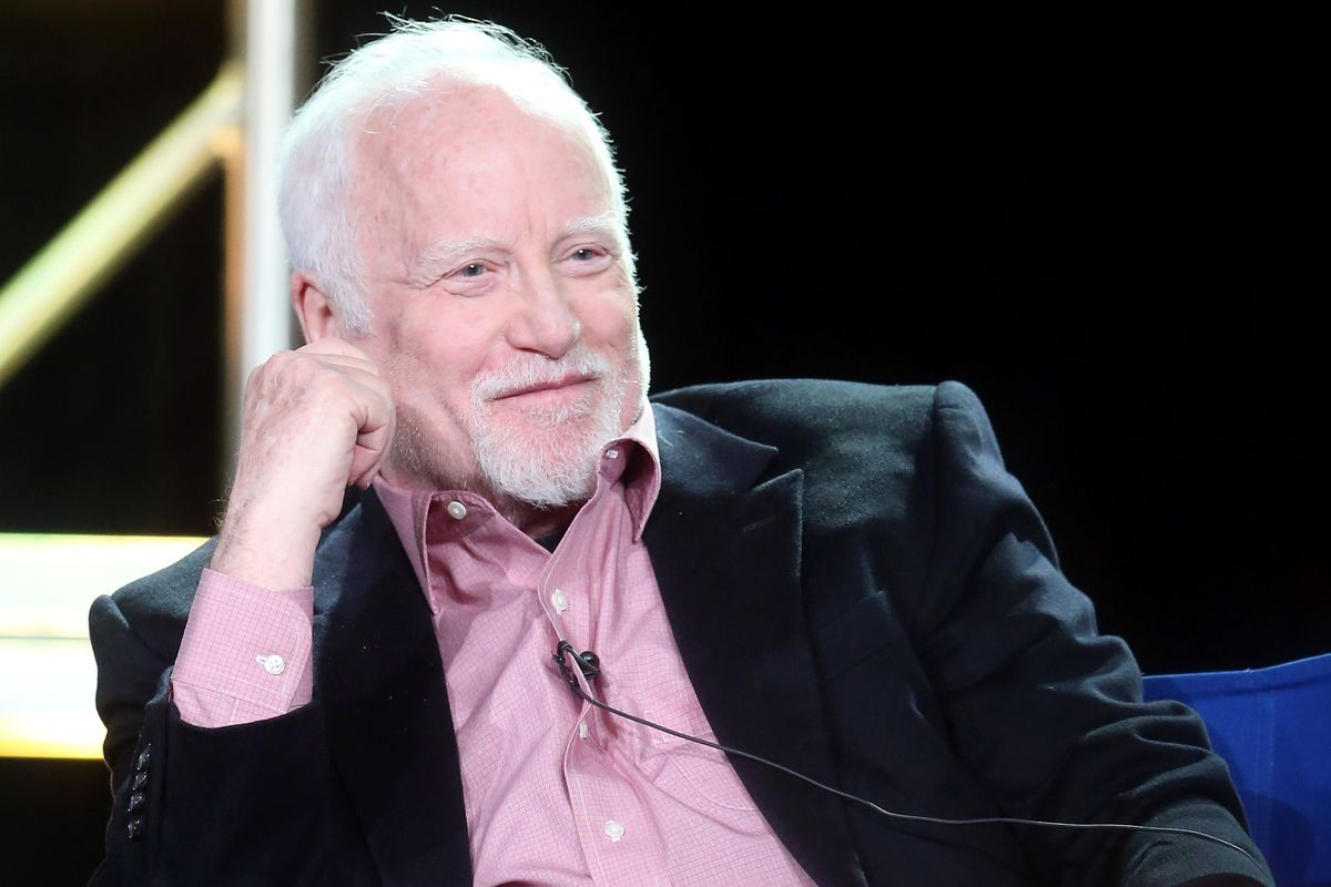 Actor Richard Dreyfuss of the television show 'Shots Fired' speaks onstage during the FOX portion of the 2017 Winter Television Critics Association Press Tour at Langham Hotel on January 11, 2017 in Pasadena, California. (Photo by Frederick M. Brown/Getty