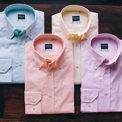 """Trend 3 (or, um, non-trend): """"This is not a trend given that it never goes out of style.  A great, broken-in Oxford is the perfect year-round shirt."""" This season, Smith is outfitting clients in real-men-are-not-afraid-of-'em pastels."""