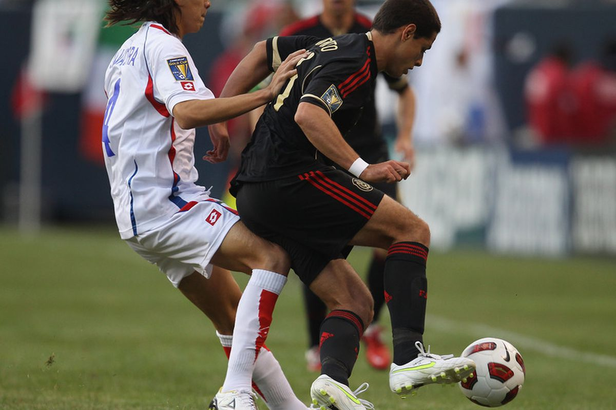 Jose Salvatierra, seen here shutting down Chicharito Hernandez during the 2011 Gold Cup, is one of several players from this year's CCL that D.C. United would do well to pursue this offseason.