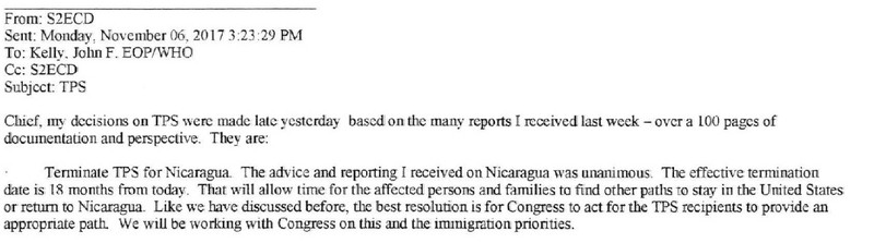 Screen_Shot_2018_08_30_at_9.08.07_AM New documents: White House persuaded DHS to cut short Nicaraguans' humanitarian protection