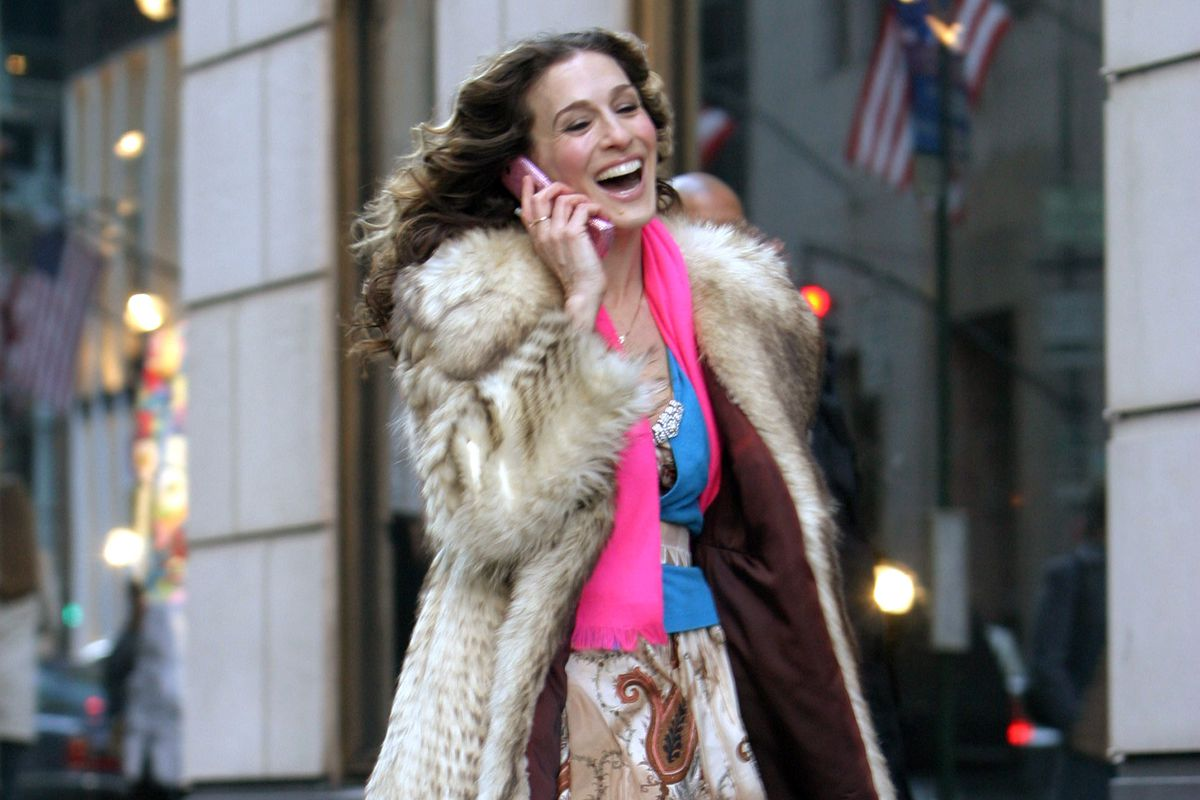 Sarah Jessica Parker on the final day of filming 'Sex and the City.'