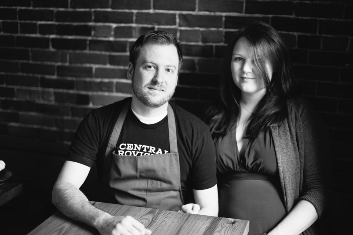 Chris (L) and Paige Gould, co-owners of Central Provisions, Portland.