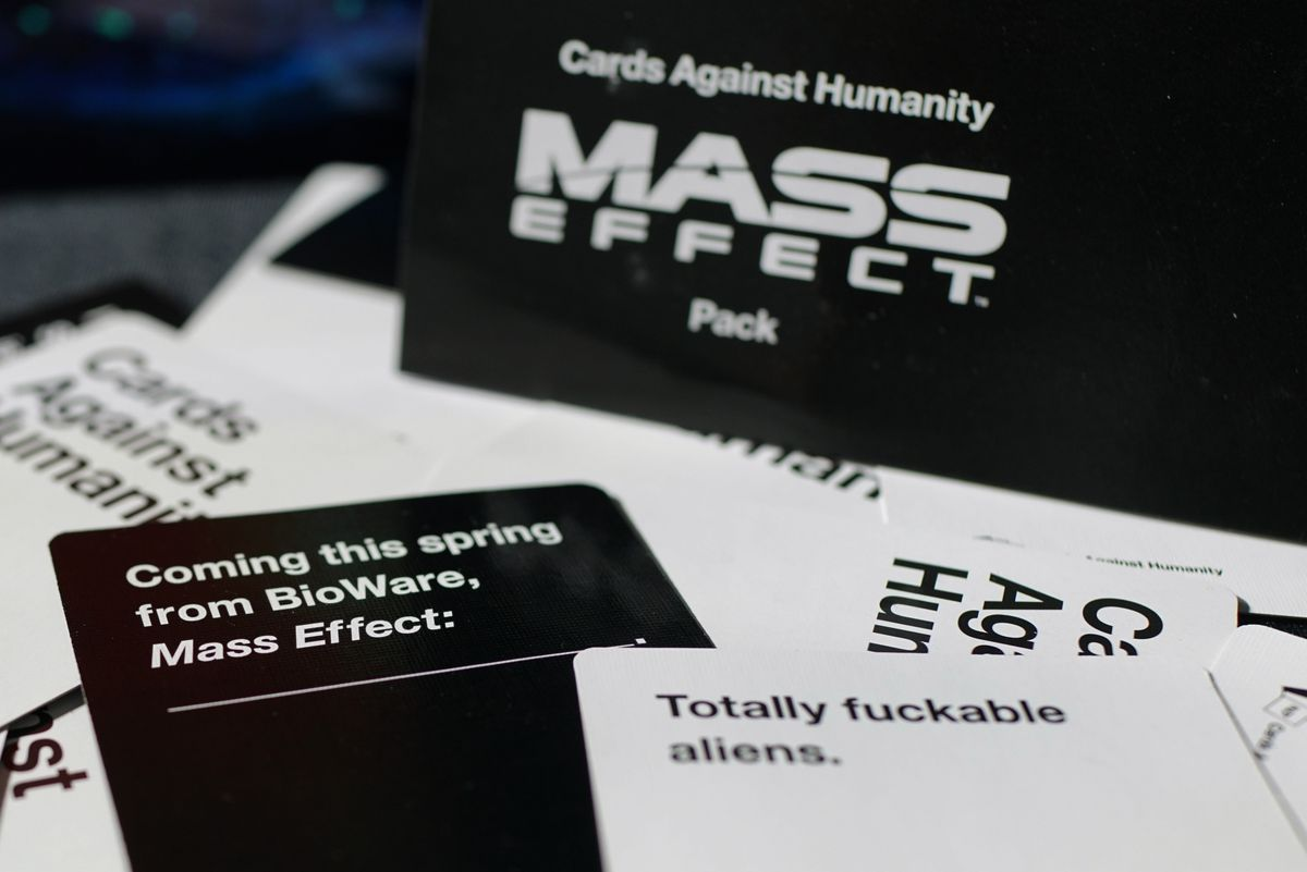 """Cards Against Humanity Mass Effect Pack """"totally fuckable aliens"""""""